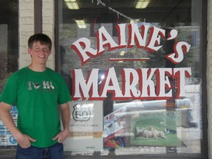 "Sam at namesake market.  Highway 50, ""America's loneliest highway""."