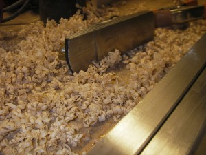 Shavings from planing bamboo fly rod