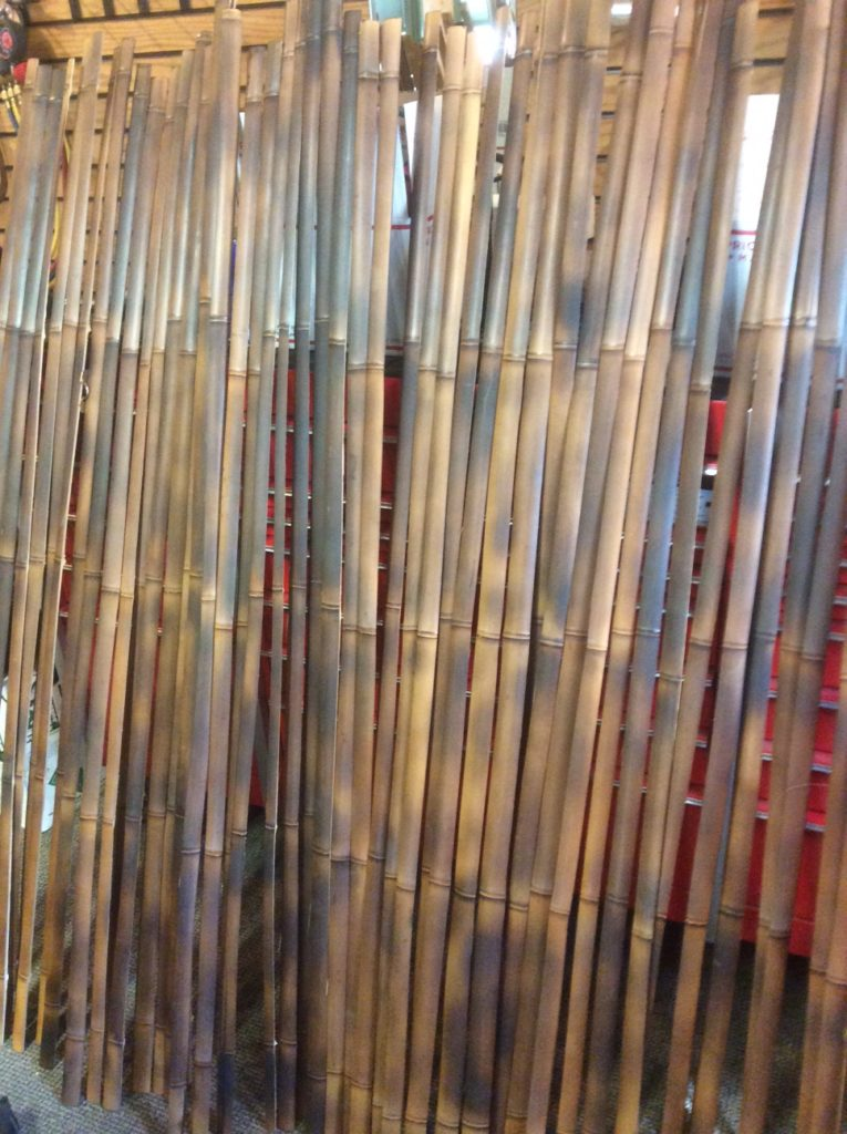 Bamboo fly rod culms being split into strips