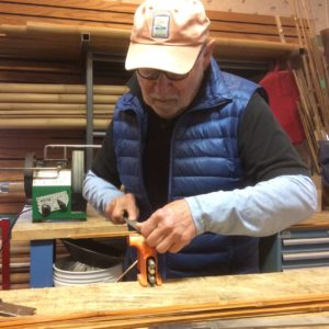 Prepping nodes while making bamboo fly rod